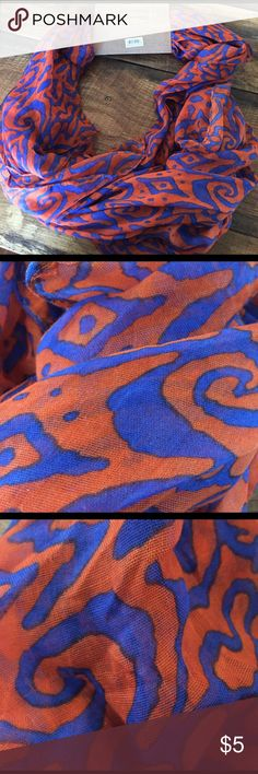 Alma Mater Scarf This blue and orange Alma Mater scarf is a boutique closeout item and has never been worn. Alma Mater  Accessories Scarves & Wraps