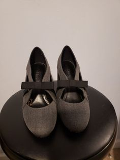 e7c207db3e03 Kelly   Katie Felice Pump  Gray Canvas 3.5 inch Heel US 7 - NEW  fashion   clothing  shoes  accessories  womensshoes  heels (ebay link)