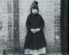 Girl from the West 52 Street Industrial School by Jacob Riis