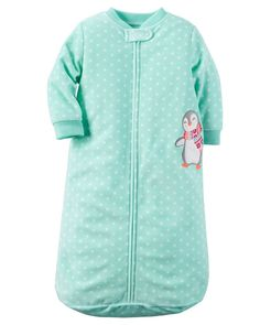 Carters One Piece Zoo Animals Micro Fleece Sleep Bag or Sack 09 Months Turquoise Heart Penguin ** More info could be found at the image url. Baby Girl Pajamas, Carters Baby Girl, Kids Pajamas, Mothercare Baby, Baby Girl One Pieces, Baby Penguins, Penguin Baby, Girl Sleeping, Kids Blankets