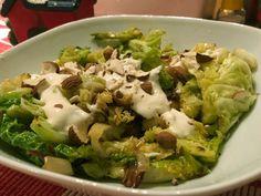 Halloumi, Sprouts, Apple, Meat, Chicken, Vegetables, Food, Apple Fruit, Essen