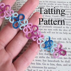 PDF original shuttle tatting pattern of the Eva bookmark. This listing is for a digital .pdf file (Portable Document Format) of my Eva bookmark original shuttle tatting pattern. It features the basic version and three variations (as shown in the listing photos above): using two colours,