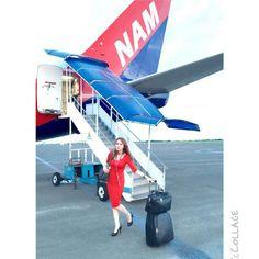 NAM Air Stewardess @skandinavia_girl Aviation News, Aircraft, Park, Fun, Travel, Aviation, Viajes, Airplane, Parks