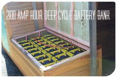 2100 amp hour deep cycle battery bank(100 KW)