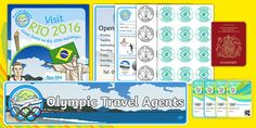 Everything you need to create a fabulous Rio 2016 Olympics travel agents role play area in your classroom. Simply use with our other holidays and seaside display resources and away you go! Rio Olympics 2016, Tokyo Olympics, Olympic Games For Kids, Role Play Areas, Dramatic Play Area, Rio 2016, Event Organization, Teaching Resources, Activities