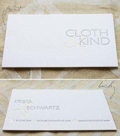 gold foil + letterpress business cards from spark letterpress.