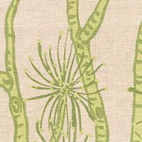 "FerrickMason ""Calliandra"" Hand Printed Green/Natural"