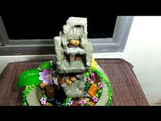 How to make cemented step water fall fountain water fountain Diy Water Fountain, Plaster Crafts, Plastic Buckets, Water Effect, Diy Crafts To Do, Craft Work, Diy Tutorial, Snow Globes, Diy Home Decor