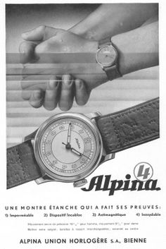 Alpina 4 historic advertisement.