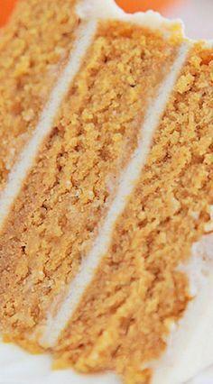 Easy Pumpkin Spice Cake w/ Cinnamon Cream Cheese Frosting