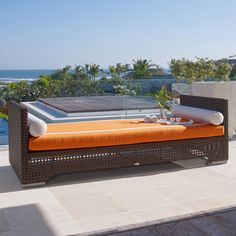 Dann Foley Bel Air Daybed with Cushions. Get wonderful discounts up to Off at Wayfair using Coupon & Promo Codes. Outdoor Daybed, Outdoor Wicker Furniture, Outdoor Rooms, Outdoor Living, Outdoor Decor, Contemporary Outdoor Sofas, Daybed Design, Skyline Design, Bel Air