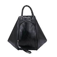 Oferta: 29.28€. Comprar Ofertas de Moda Mujer PU Mochila De Cuero Casual Bolso De La Bolsa De La Mancuerna Multicolor,Black-M barato. ¡Mira las ofertas!