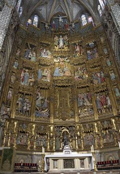 High Alter in the Catherdral Toledo, Spain