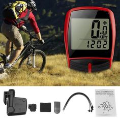 3036fa0da7f BIKIGHT Wireless LCD Cycling Bike Bicycle Cycle Computer Odometer  Speedometer Waterproof Back Light