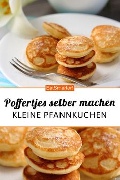 Simply make poffertjes Poffertjes ganz einfach selber machen! Simply make poffertjes yourself! Pastas Recipes, Pizza Recipes, Cake Recipes, Dessert Recipes, Cooking Recipes, Dessert Simple, Dessert Nouvel An, Best Pancake Recipe, Simple Muffin Recipe