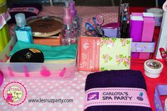 Spa Party - Beauty Party Mesa de maquillaje