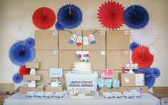 So many great ideas in this post office themed party.  Reminds me of my little brother who wanted to be a mailman so badly when he was three.