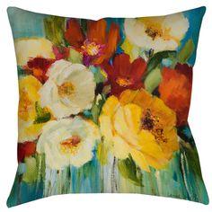 Flower Power 1 Printed Throw Pillow