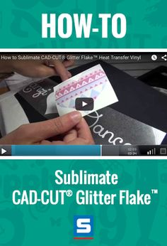 Check out this video to learn cutting edge techniques for creating full color glitter graphics. Use Glitter Flake #HTV, sublimation, and a #heatpress to decorate dark color apparel. Stahls.com or Stahls.ca