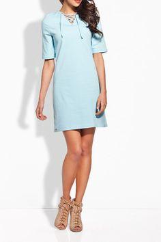 Bella Dress in Light Blue