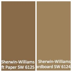 Cardboard and craft colors. Sherwin Williams.