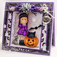 Created by Mandy for the Simon Says Stamp Wednesday Challenge with a Halloween theme.  October 2013. Magnolia Spooky Tilda