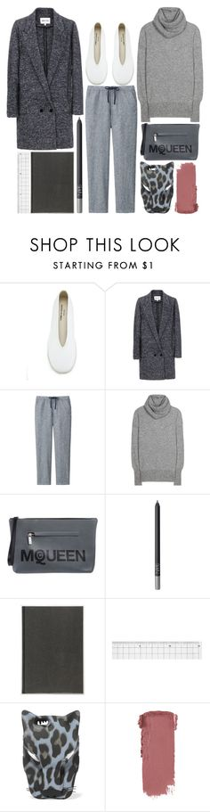 """""""so me"""" by foundlostme ❤ liked on Polyvore featuring Comme des Garçons, Uniqlo, The Row, Alexander McQueen, NARS Cosmetics, Muji, STELLA McCARTNEY, casual and grey"""