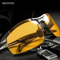 2016 Day Night Vision Goggles Driving Polarized Sunglasses for men's car Driving Glasses Anti-glare Alloy Frame glasses 8177
