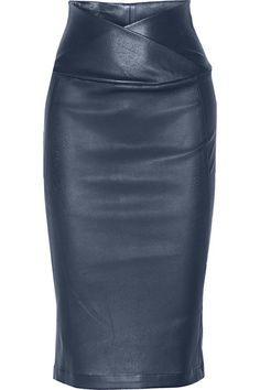 Zero+MariaCornejo- Nebi leather pencil skirt, storm blue