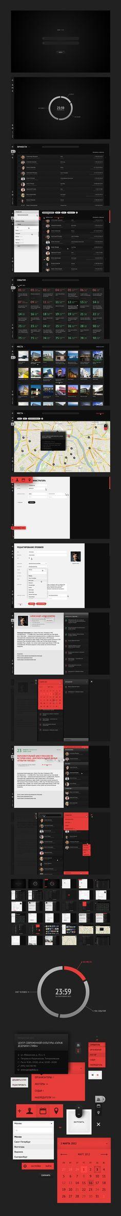 Interface design of 'MOD' CRM system / Alexander Zhestkov Game Design, Ux Design, Flat Design, Gui Interface, User Interface Design, Ui Kit, Crm System, Mobile Ui Design, Interface Design