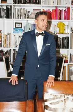 """""""Wearing a navy blue tux in place of a black one is a great way to stand out from the crowd.""""—Tom, J.Crew women's designer. Read more at jcrew.com/blog. For Clay and Ty"""