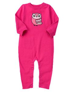 Gymboree Owl Sweater One Piece