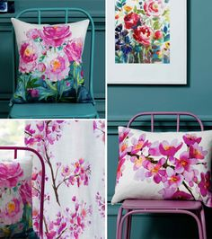 bluebellgrey - Floral Patterns - Bright Colours - Watercolour