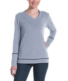 Take a look at this Ash Honeysuckle V-Neck Sweater by lur® on #zulily today!