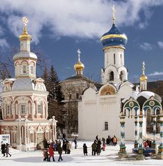 Sergiev Posad in winter Russian Architecture, Sacred Architecture, Church Architecture, Christian World, Christian Church, Russian Winter, Russian Culture, Russian Orthodox, Cathedral Church