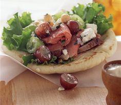 Mediterranean Grape and Lamb Pitas #lamb #lunch