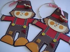 Fall Gift tags Scarecrow Gift Tags by CraftyClippingsbyPeg on Etsy, $4.50