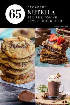 Elevate your favorite creamy hazelnut spread into these decadent desserts! Chocolate Dip Recipe, Nutella Chocolate Chip Cookies, Nutella Hot Chocolate, Dessert Chocolate, Braided Nutella Bread, Nutella Banana Bread, Nutella Mug Cake, Nutella Recipes, Brownie Recipes