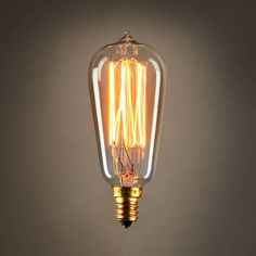 Bushwick Mini ST10 Vintage Candelabra Light Bulbs, 40W (E12) - Set of 4; Edison style bulbs; modern, vintage look for interior design and home decor with visible fillaments