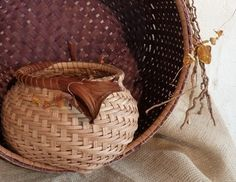 Catheads with Amber web  Laura Weber Basketry Functional and Sculptural Baskets and Fiber Arts  http://www.weberarts.com/