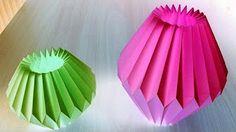 DIY Paper Folding Lamp Conical Structure Hexagonal Base