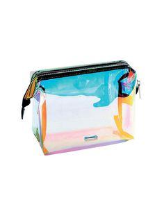 Diy Makeup Bag, Makeup Case, Lip Makeup, Holographic Makeup, Beauty Kit, Beauty Products, Cosmetic Pouch, Pretty Makeup, Pouch Bag