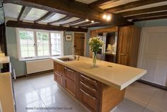 The Handmade Kitchen Company design, manufacture and install bespoke fitted kitchens which are traditionally crafted by cabinetmakers Shaker Style Kitchens, Shaker Kitchen, Solid Wood Kitchens, Handmade Kitchens, Bespoke Kitchens, Work Surface, Cabinet Makers, Kitchen Styling, Wood Grain