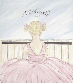 Personalized Girls Pink Ballet Recital Dress by artbybeckieann, $39.00