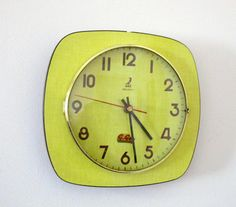 French 1950-60s Atomic Age JAZ Bright Yellow Formica Wall