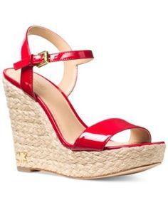 d685ce0dde68 Michael Michael Kors Jill Espadrille Wedge Sandals - Brown 5M. Red Wedge  ShoesPlatform Wedge SandalsStrap ...