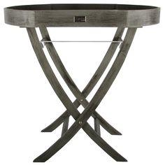 Butlertray Ardenno ovaal grijs + zwarte finish. Collectione / Casa-Bella