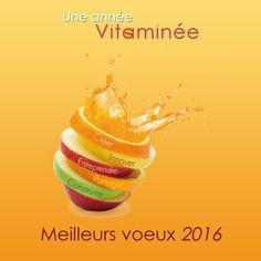 Carte de voeux entreprise 2016 Vitamine pour des voeux professionnels