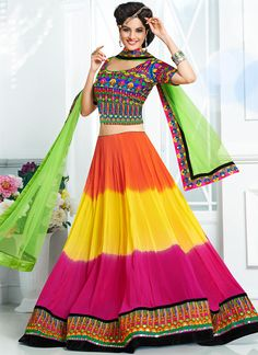 Remarkable Multicolored LehengaCholi
