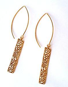 Matte Gold Bohemian Dangle Earrings, Boho Chic Fashion |  MIA ELLIOTT $15.00